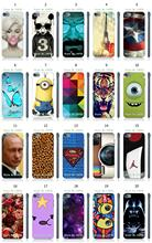 Mobile Phone Case New 1pc Instagram Minions Eiffel Tower Hybrid Design Protective White Hard Case For Ipod Touch 5 Free Shipping