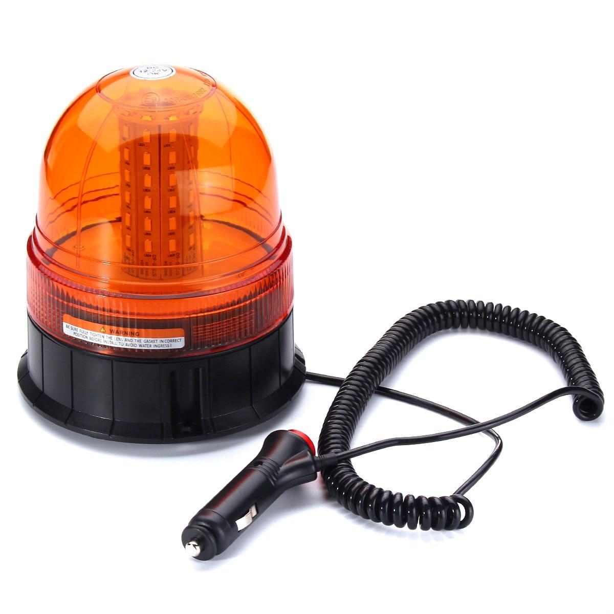 NEW 12W 5730 60 LED Emergency Vehicle Flash Stobe Rotating Beacon Warning Light Traffic Light Roadway Safety<br>