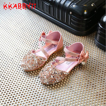 Buy Girls Sandals New Summer Fashion Girls Sequins Single Shoes Kids Children Korean Toddler Baby Princess Sandals 3 Colors 21-36 for $7.28 in AliExpress store