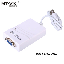 USB 2.0 to VGA Converter D-sub Serial Com Port USB Switch to VGA Driver Card 1 PC 2 Monitor Different Image Display
