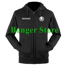 Skoda sweatshirts coat custom Skoda 4S shop hoodie jacket for men and women(China)