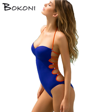 Halter Retro One Piece Swimsuit Sexy Swimwear Bathing Suit Women Swim Wear female Biquini Bandage Monokini One-Piece Swimsuits