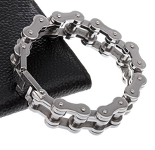 22.8cm* 22mm Huge Heavy Charming 316L Stainless Steel Silver Cool Men's Biker Bicycle Motorcycle Chain Males Bracelets & Bangles(China)