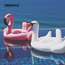 Summer Baby Flamingo Swimming Ring Inflatable Swan Swim Float Water Fun Pool Toys Swim Ring Seat Boat Kids Swimming(China)