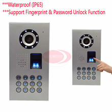Fingerprint/Code Video Phone Intercom Doorbell Camera Video Intercom CCD Camera 700lines Outdoor Camera IP65 waterproof