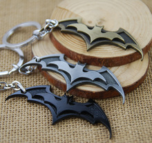 3 colors Batman logo keychain metal pendant high quality keyring key chain ring men movie jewelry