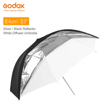 "Godox 33"" 84cm Double Layers Reflective and Translucent Black White Umbrella for Studio Flash Strobe Lighting(China)"