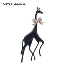 MOULANFA Giraffe Brooches for Women Girl Personality Statement Jewelry Scarf Lapel Pin Dress Decoration Animal Accessories