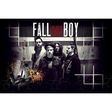 J0541- Fall Out Boy Rock band Pop 14x21 24x36 Inches Silk Art Poster Top Fabric Print Home Wall Decor(China)