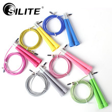 Buy SILITE 2.7M Speed Steel Wire Skipping Rope Skip Adjustable Jump Rope Crossfit Home Gym Fitness Crossfit Workout Training for $10.19 in AliExpress store