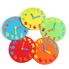 2Pcs/Lot EVA Foam number clock puzzle toys assembled DIY creative educational toys for children baby 1-7 years
