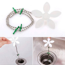 Drain Hair Catcher Stopper Clog Sink Strainer Flower Kitchen Bathroom Remover Cleaning Filter Strap Pipe Hook Useful