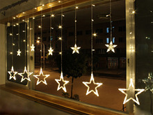 AC110 / 240V 138-LEDS Strobe Light Christmas Stars Decorative String Light for Christmas Partys Wedding New Year Decorations(China)