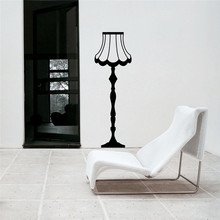 Anitique Style Wall Decal Vintage Floor Lamp Stickers Living Room Fallow Interior Art Mural Kids Nursery Removable Decor