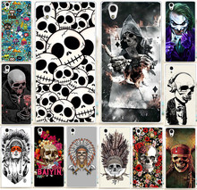 Case For Lenovo P70 P70T Colorful Skull Design Cool Head Painting Hard PC Phone Case For Fundas Lenovo P70 P70T Cover Hood Capa