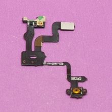 YuXi Best price Power Button Flex Cable Ribbon Light Sensor Power Switch On / Off Replacement for iPhone 4S