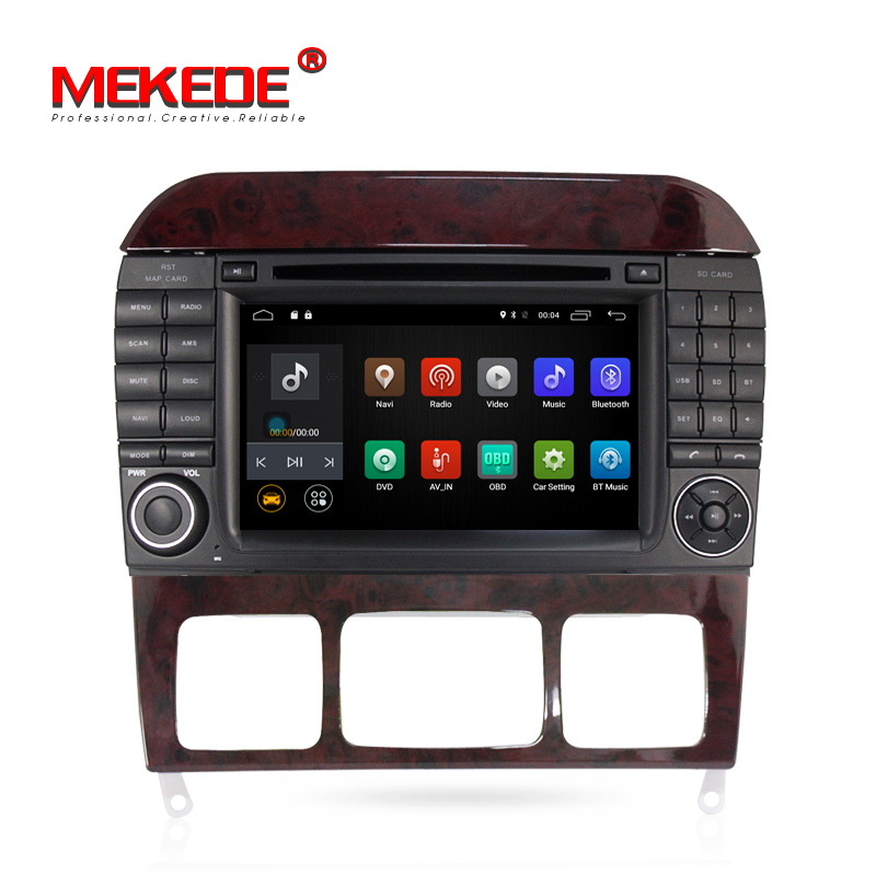 stock 2G RAM 16G ROM Android7.1 4G wifi car media gps Benz S Class W220 S280 S420 S430 S320 S350 S400 S500 S600 CL-W215
