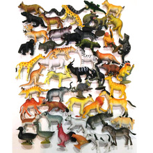 50 pcs Small Size Land Animals Model Toy Set High Imitation Land Creatures Early Education Toys Children Gift Free Shipping(China)
