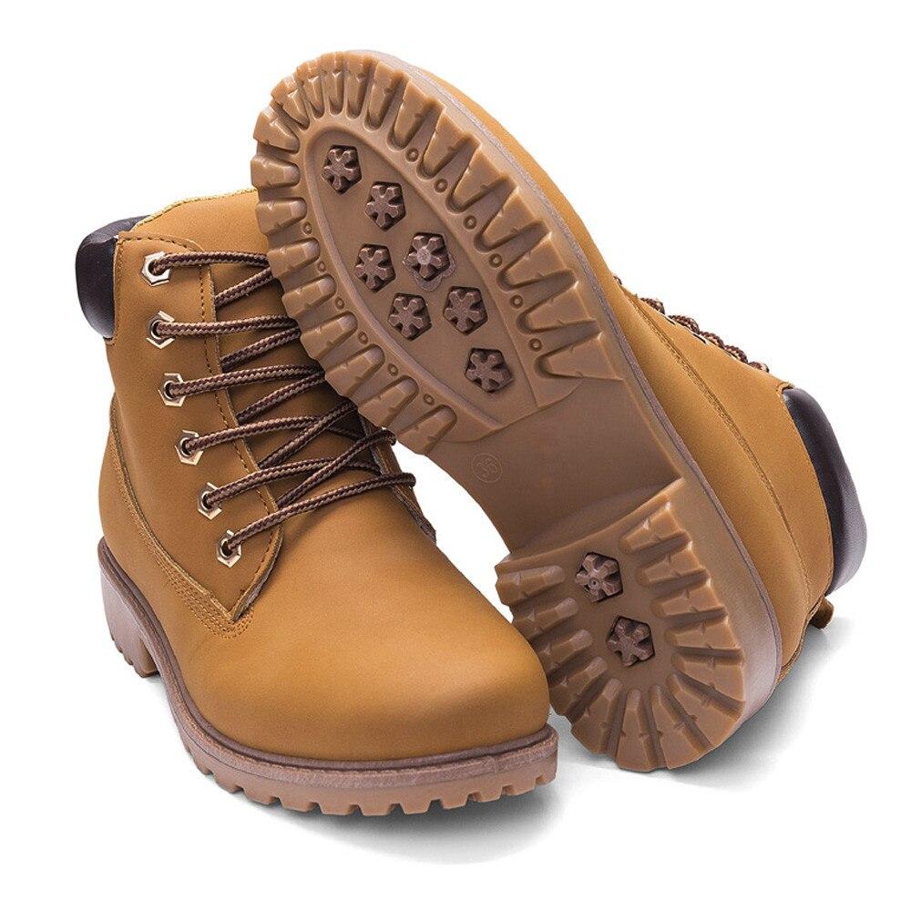 Szyadeou Women Ladies Round Toe Lace-up Faux Boots Ankle Casual Martin Shoes botas mujer invierno kozaki damskie schoenen 30 11