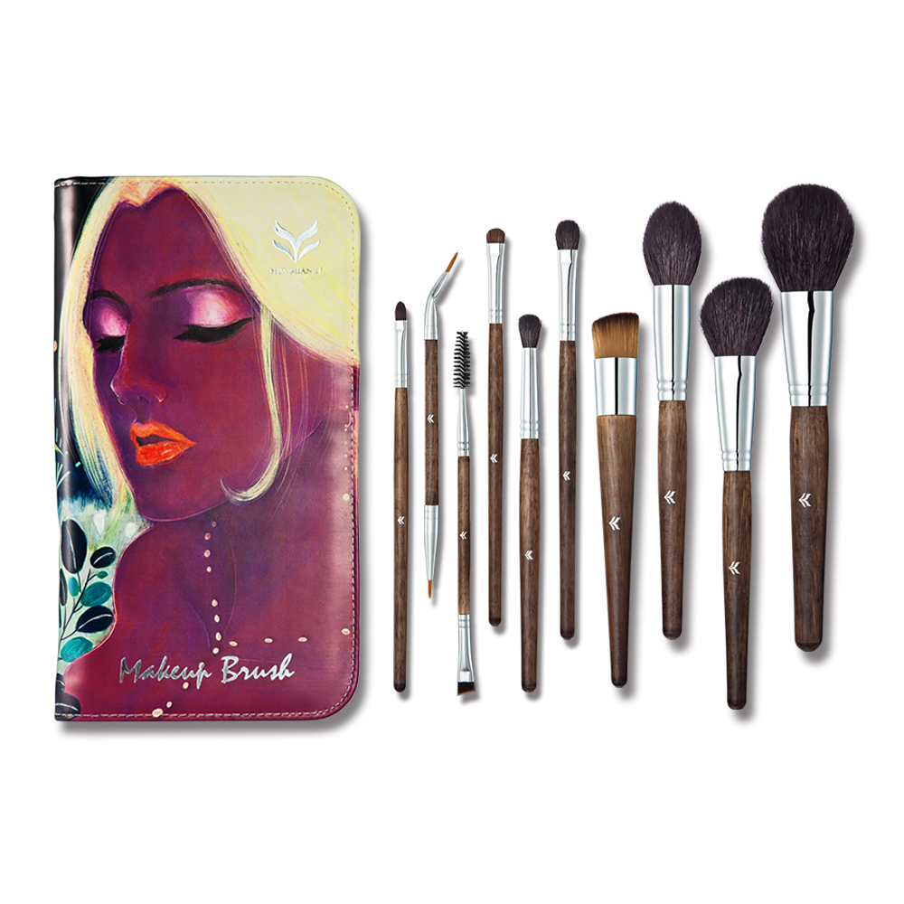 10 pcs Professional Makeup Brushes Set High Quality Make Up Brushes Full Function Studio Synthetic Make-up Tool<br>