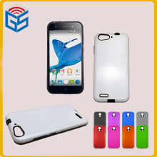 Rubber Paint Color 2 In 1 TPU And PC Hard Case Combo Cover For ZTE Blade L6 Free Ship