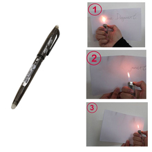 Magic Ink Flame Heat Invisible Vanish Disappear Erasable Ball Pen Magic Tricks Pen Magie(China)