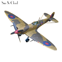 1:32 DIY 3D Supermarine Spitfire IXc Type Fighter Plane Aircraft Paper Model Assemble Hand Work Puzzle Game DIY Kid Toy(China)