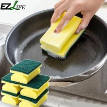 EZLIFE Cleaning Sponge Brush Dish Pan Oil Spots Cleaner Scourer Pad Kitchen Supply KLZ6136