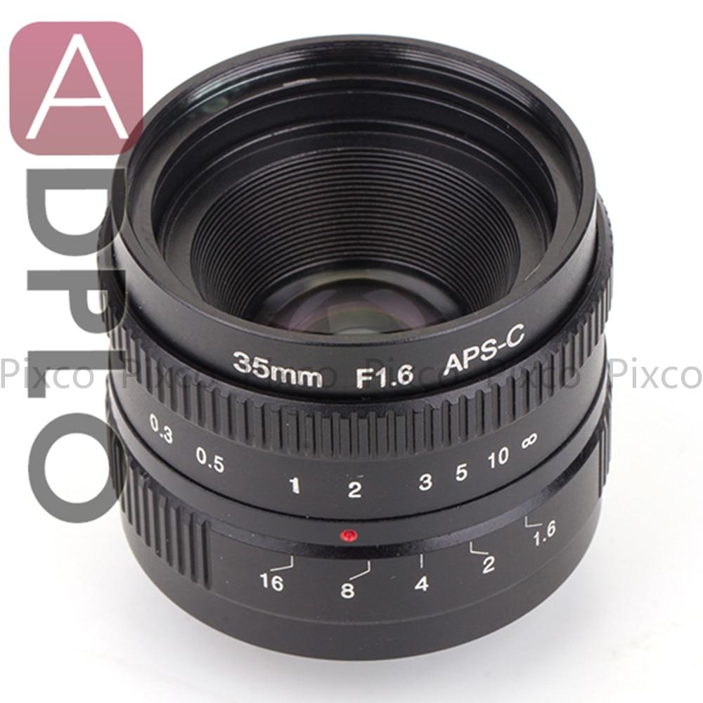 Suit For 16mm C Mount Camera 35mm F1.6 Black /APS-C Television TV Lens/C CTV Lens<br><br>Aliexpress
