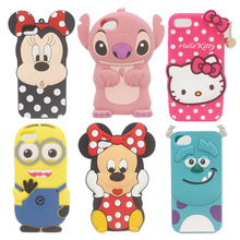 "Cartoon Minnie Stitch Minions Sulley Hello Kitty Phone Case For iPhone 7 & 7 Plus iPhone7 7G 4.7"" Plus 5.5"" Silicone Back Cover"