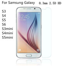 Tempered Glass Film For Samsung Galaxy  S3 S4 S5 S6 9H 0.3mm Ultra Real Premium Screen Protector For  Galaxy S3 S4 S5 mini