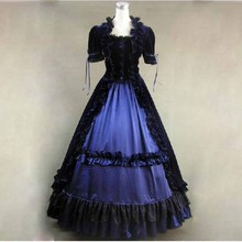 Vintage classic womens dress gothic lolita costumes halloween for women fantasias cosplay preppy girl sweet long ruffles dresses