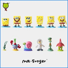 Mr.Froger SpongeBob 12Pcs/Set Mini dolls Patrick Star Gary Squidward Action  Figures Toys Movie Doll Collection Brinquedos
