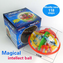 118 Steps 3D Magic Intellect Ball Educational classic toys Marble Puzzle Game perplexus magnetic balls IQ Balance toy
