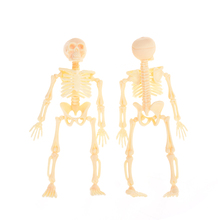 11.5X5.5X2.5CM Halloween Movable Mr. Bones Skeleton Human Model Skull Full Body Mini Figure Toy Skeleton