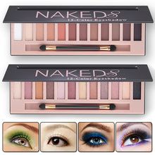 Natural Shimmer Matte Eye Shadow Makeup Eye Shadow Palette Eyeshadow Matte Eyeshadow Glitter Waterproof  Cosmetic Set with Brush
