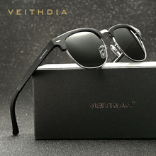 VEITHDIA Retro Aluminum Magnesium Brand Originl Box Men Sunglasses Polarized Vintage Eyewear Accessories Sun Glasses Oculos 6690