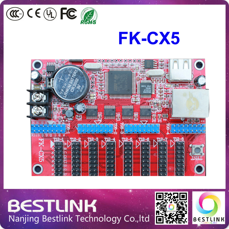 feikong FK-CX5 led controller card ethernet port LED control card 128*904 pixel p10 running text outdoor led display screen(China)