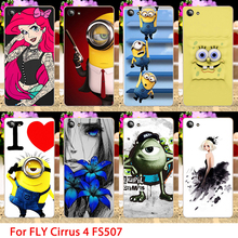 TAOYUNXI TPU Phone Case For Fly Cirrus 4 FS507 Cartoon Minions Hard Cell Phone Back Coverss Sheaths Skins Shields Hood Bags