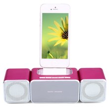 2016 Hot Sale Multifunctional Portable XKD12 Home Theater Music System Speaker Support FM With Dock Station For iPhone 5 5S