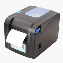 New USB barcode Label printer support adhesive sticker qr printing for supermarket & vendor price sticker printer machine 370B