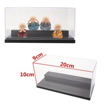 "7.8x3.5x3.9"" 20cm Clear Acrylic Display Show Box Case Dustproof Tray Protection For Children Adult Blocks Model Toys Gifts"