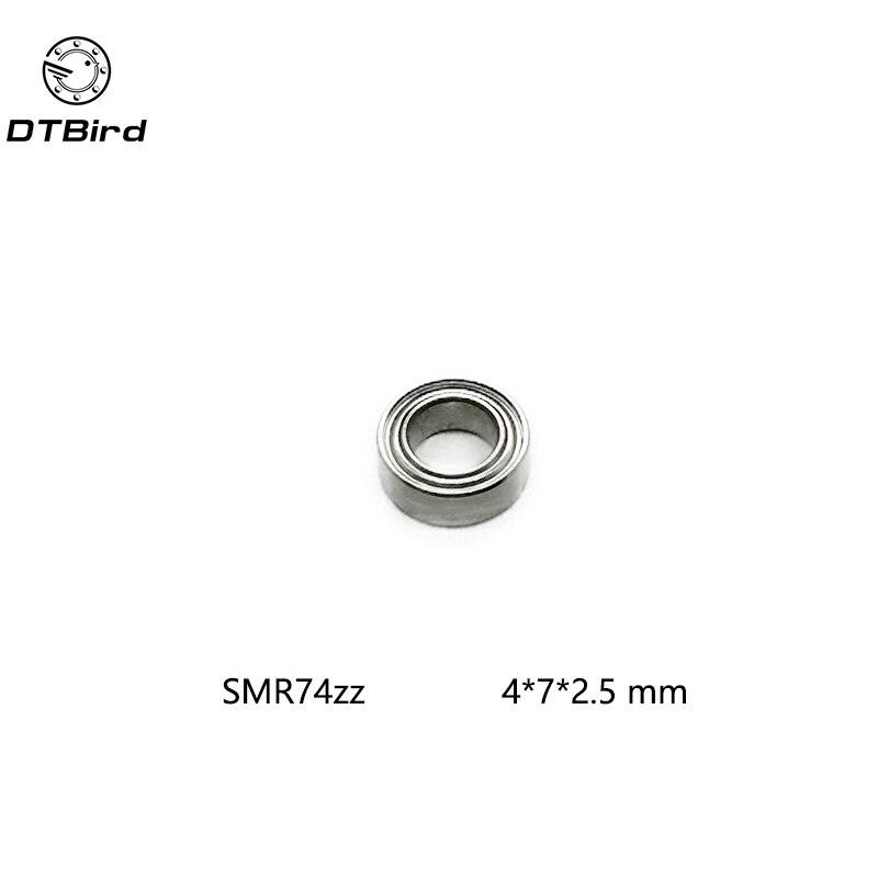 SMR74ZZ MR74ZZ 5 PCS 440c Stainless Steel Shielded Ball Bearing 4x7x2.5 mm