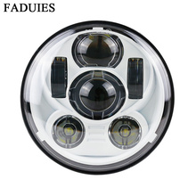 "FAUDIES White 5.75"" 5 3/4 LED Motorcycle Headlight Daymaker For Harley Sportster 1200 XL1200L Custom XL1200C 883 XL883 883L(China)"