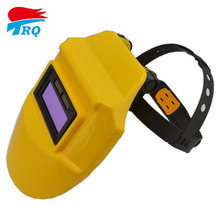 Solar battery Auto Darkening Welding Helmet Lens Welding Filter Welding Equipment TIG MIG MMA Electric Yellow Mask Free Shipping(China)