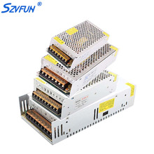 Szvfun 60W 50W LED Driver 12V 5A 10A 15A 20A 30A Alimentation Transformer 220V to 12V Switch 12 Volt Power Supply for LED Strip(China)