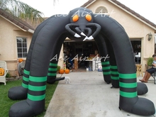 outdoor giant airblown inflatable Halloween spider archway with six legs for advertising decoration