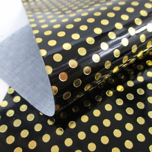 david angie 20*34cm gold dot Synthetic Leather Artificial Leather,DIY Handmade Materials,Sewing Fabri,1Y56373
