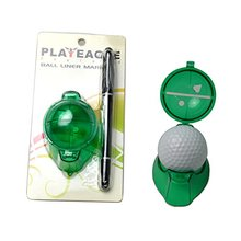 PLAYEAGLE 10pcs/1Lot  Golf Ball Liner Marker Drawing Accessories Tool Plastic Three Color Golf Ball Liner with 1 pcs Pen