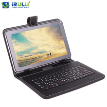 iRULU 2017 9'' Russian Keyboard Leather Case for Using Russian Language People Micro USB Cover for 9 inch Tablet PC Hot Seller